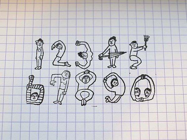 画像2: 36×ほしのしほ 人数字ハンコ