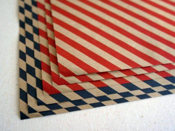 画像1: 36オリジナル 縞々包装紙
