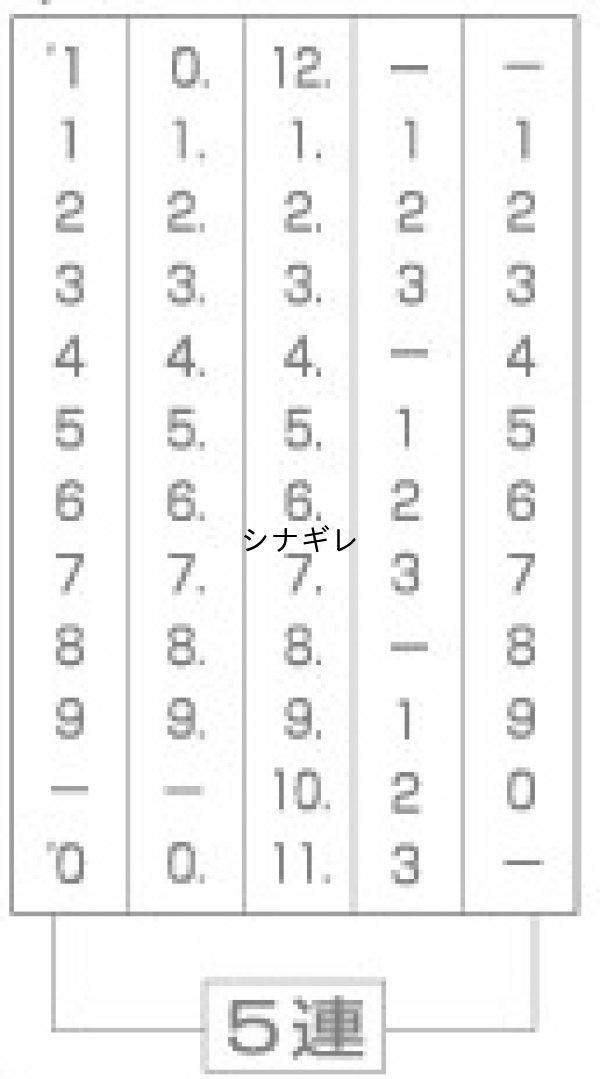 画像4: 紺木軸回転印  定期用大型日付