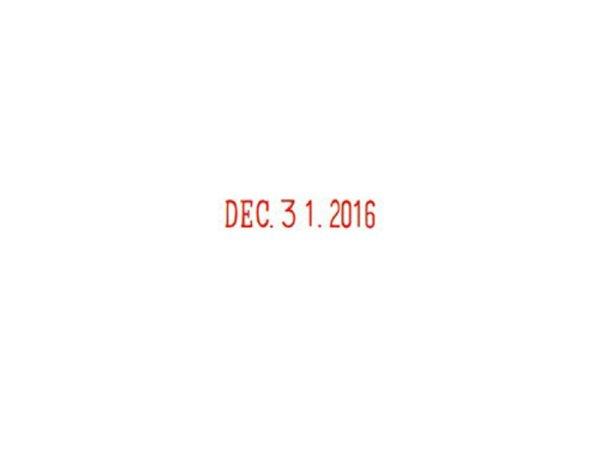 画像4: 紺木軸回転印 西暦日付