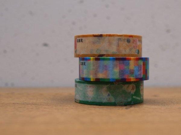 画像1: サクラクレパス柄 おなまえ マスキングテープ