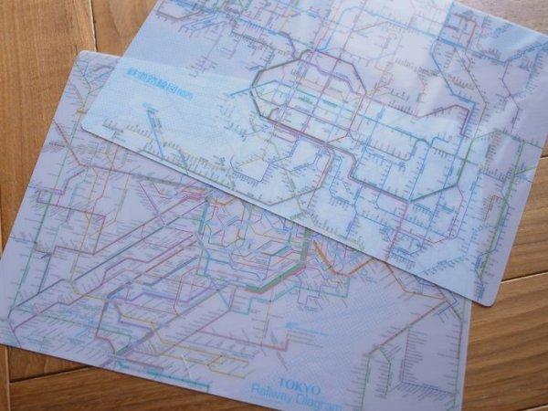 画像1: 鉄道路線図下敷き