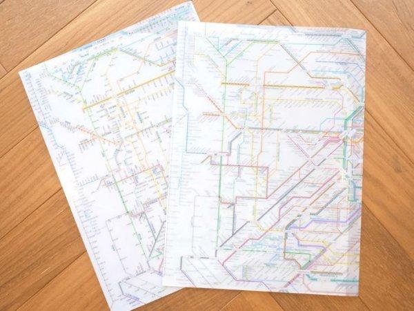 画像1: 鉄道路線図クリアファイル