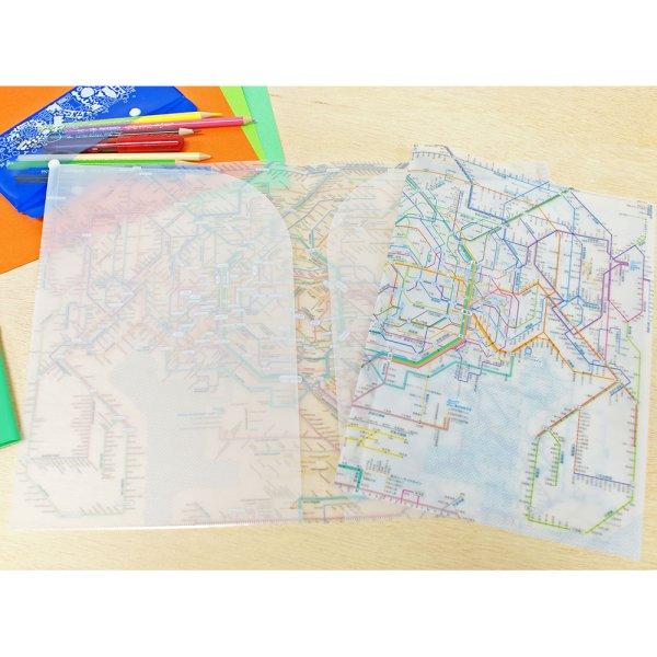 画像2: 鉄道路線図クリアファイル