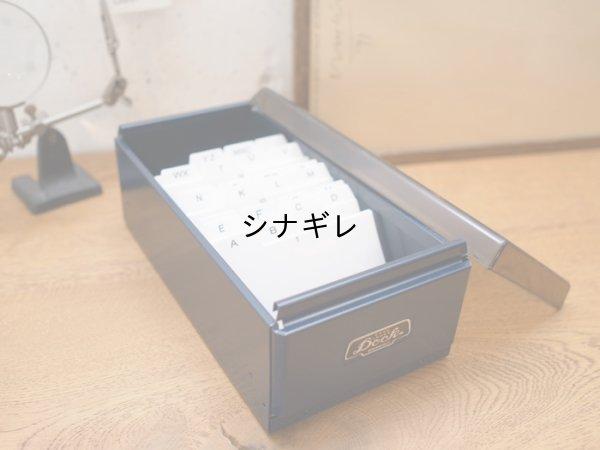 画像1: スチール 卓上名刺・カードケース L