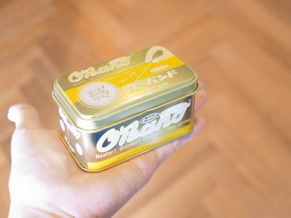 画像4: ブリキ缶入り ゴムバンド ゴールド缶