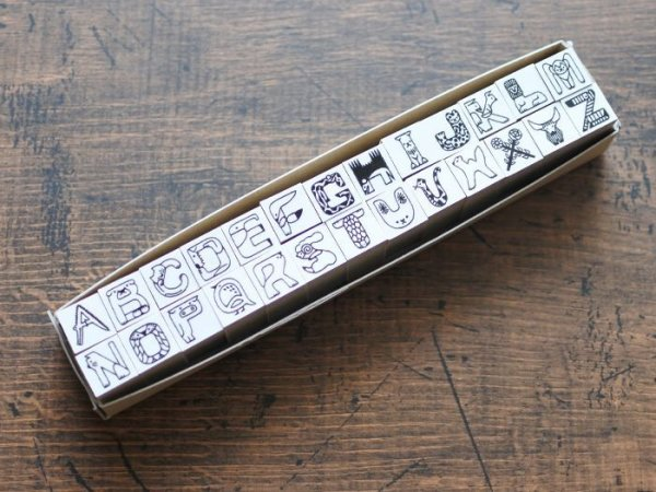 画像1: 福田利之 × 36 アルファベット ハンコ