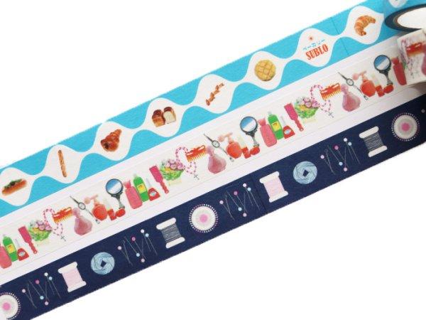 画像1: 36オリジナル おみせやさん マスキングテープ(おしゃれの店・手芸店・パン屋)