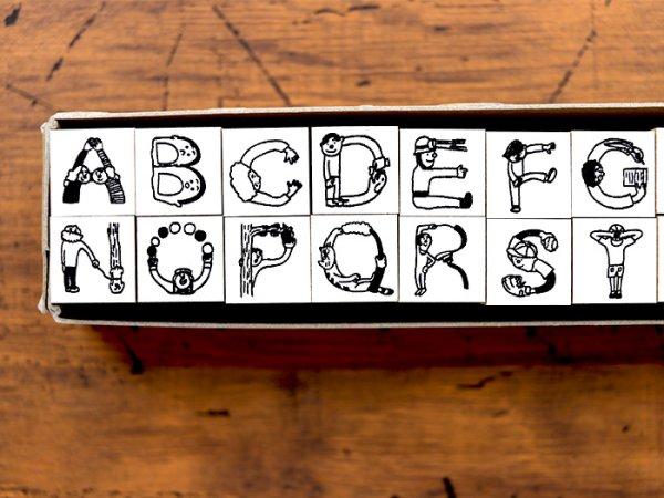 画像2: 36×ほしのしほ 人アルファベット ハンコ