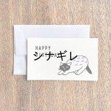 松尾ミユキ×水縞 メッセージカード 小動物 猫 HAPPY BIRTHDAY