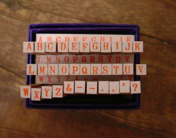 画像1: ABC アルファベット ハンコ 6号
