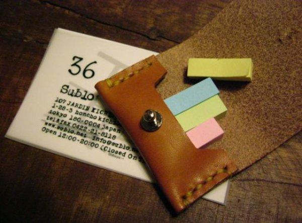 画像1: 36オリジナル 本革製 付箋ケース