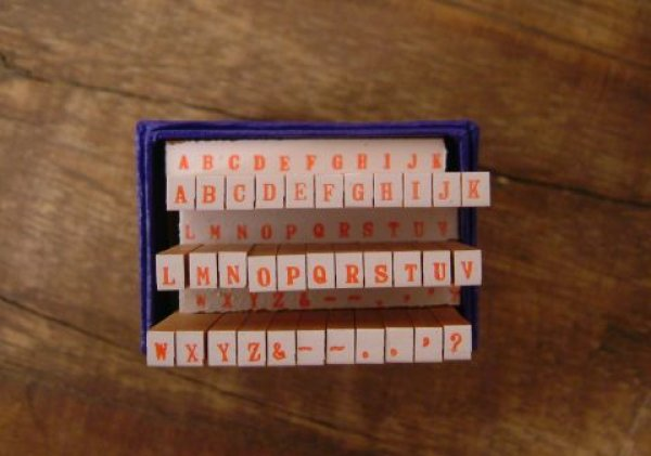 画像1: ABC アルファベット ハンコ 7号