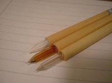 他の写真1: 佐瀬工業所製 竹軸ガラスペン 3本セット